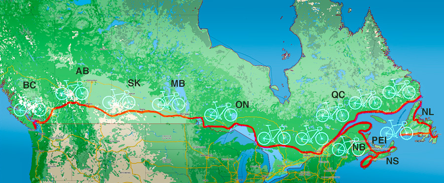 Itinerary of my trip across Canada
