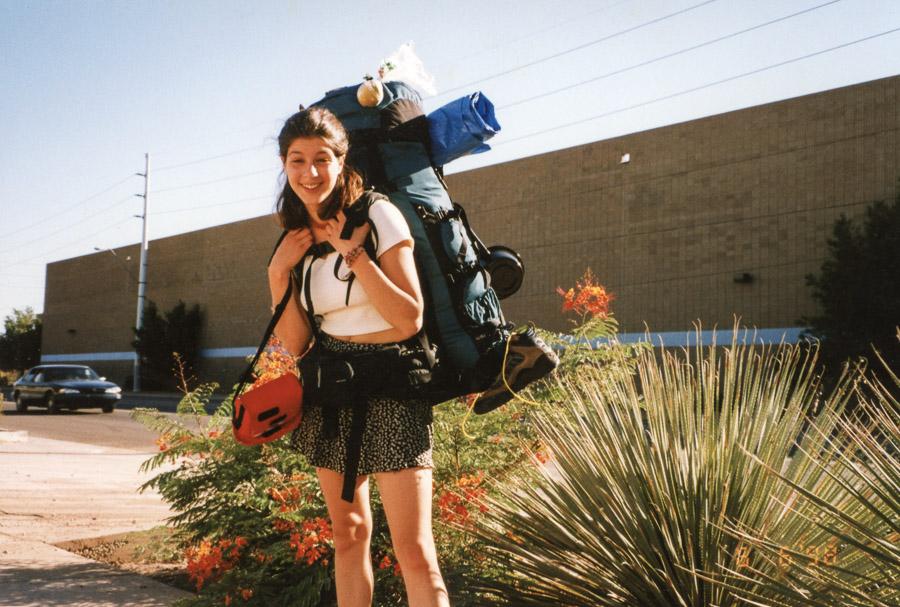 Julie's backpack