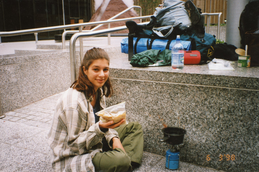Lunch time on the street in New York