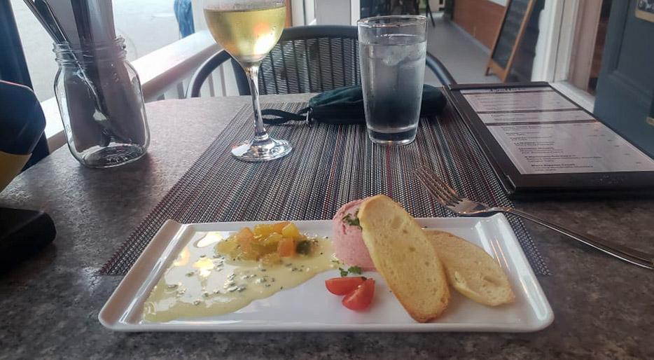 Repas au restaurant La Batture
